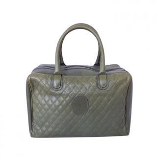 Saint Laurent vintage olive green quilted lambskin bag