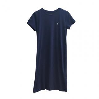 Polo Ralph Lauren Blue Cotton T-Shirt Dress
