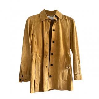Chloe mustard suede shirt jacket