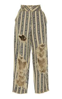Balmain Linen Paris Stripe Pant