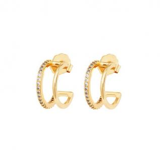 MeMe London 18ct Gold Plated Double Glam Earrings