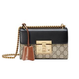 Gucci GG Supreme Padlock Small Shoulder Bag