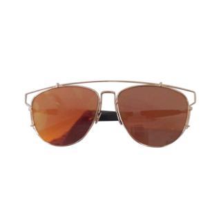 Dior Orange Mirrored DiorTechnos Aviator Sunglasses