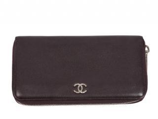 Chanel Caviar Leather Zip-Around CC Wallet