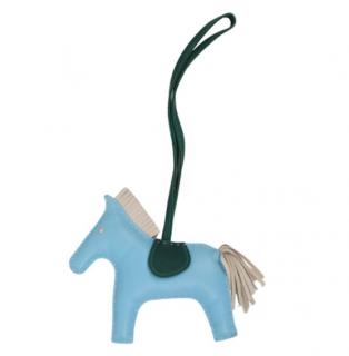 Hermes Blue Rodeo MM Milo Lambskin Charm