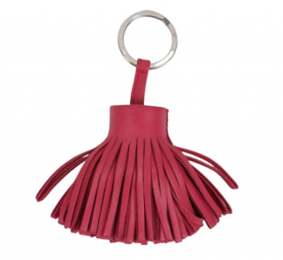 Hermes Pink Lambskin Carmen Bag Charm