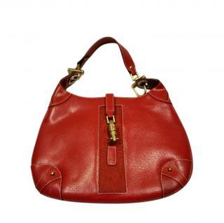 Gucci Red Piston Lock Jackie Bag