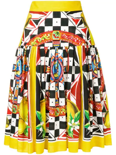 Dolce & Gabbana Sicilian Carretto Lemon Print Skirt