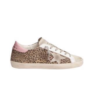 Golden Goose leopard print suede super star sneakers