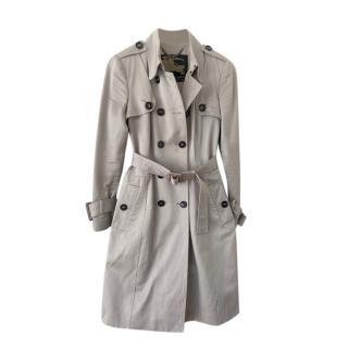 Burberry Sand Ivory Garbardine Classic Trench Coat