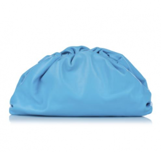 Bottega Veneta Blue Calfskin The Pouch