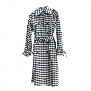 Polo Ralph Lauren Black & White Gingham Trench Coat