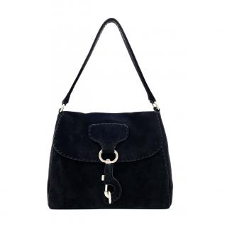 Prada Black Suede Shoulder Bag