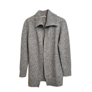 Max Mara Grey Wool Knit Cardigan