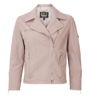 Barbour Pink Triple Leather Short Jacket