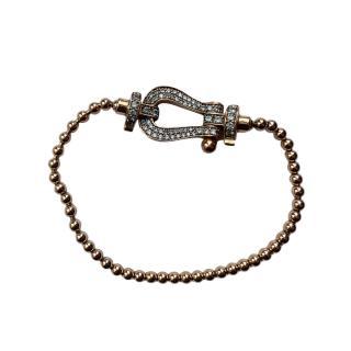 Bespoke 18kt Rose Gold Diamond Chain Bracelet