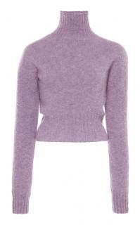 Victoria Beckham Melange Wool Lavender Jumper