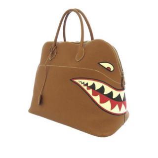 Hermes Gold Togo Leather Shark Bolide 45 PHW