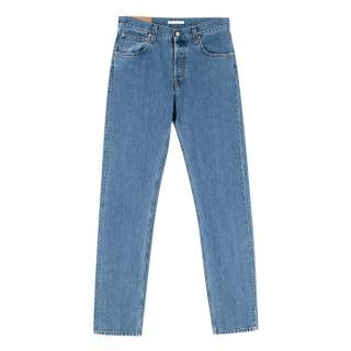 Helmut Lang Masc Hi Straight Light Wash Blue Unisex Jeans