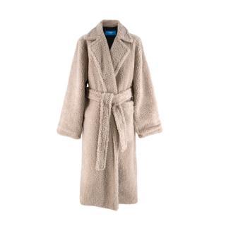 Anton Belinskiy Faux-Shearling Robe-Coat