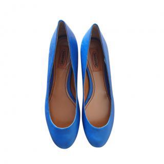 Missoni Blue Leather Ballerinas
