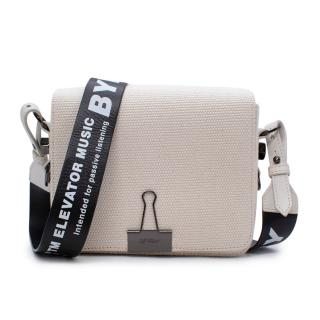 Off-White x Byredo Canvas Binder Clip Flap Bag