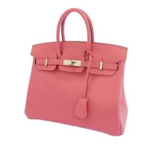 Hermes Baby Pink Swift Leather Birkin 25 PHW