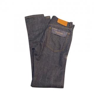 Valentino Men's Indigo Straight Cut Jeans
