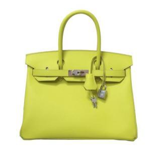 Hermes Yellow Epsom Leather Birkin 30 PHW