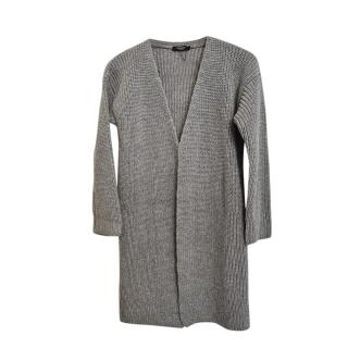 Weekend Max Mara Grey Wool Lurex Knit Cardigan