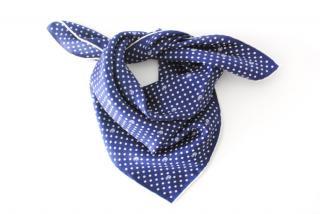 Gucci Blue & White Silk Printed Necktie/Scarf