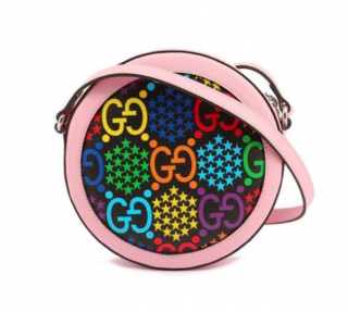 Gucci Leather GG Psychedelic Round Shoulder Bag