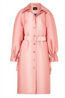 Stine Goya Bubblegum Pink Flo Satin-drill Coat