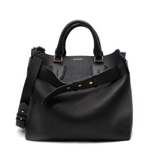 Burberry Black & Green Calfskin Belt Bag