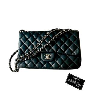 Chanel Black Quilted Lambskin Maxi Double Flap Bag