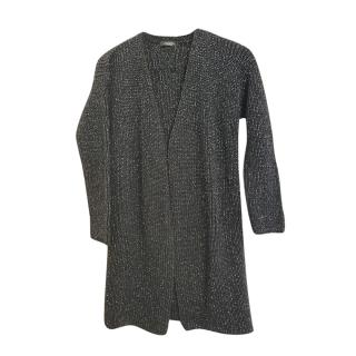 Weekend Max Mara Black Lurex Knit Open Cardigan