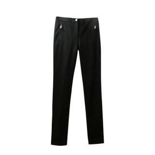 Roberto Cavalli Black Slim Cut Pants