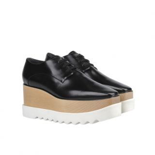Stella McCartney Black Leather Elyse Platform Sneakers
