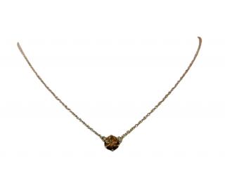 Cara Cognac Diamond Solitaire Pendant Necklace