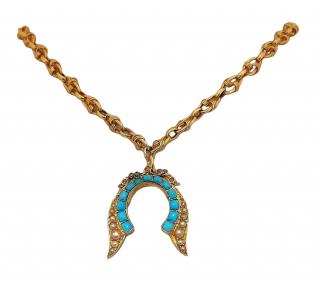 Bespoke Gold Victorian Revival Pendant Necklace