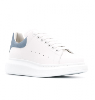 Alexander McQueen White/Pastel Blue Chunky Sneakers