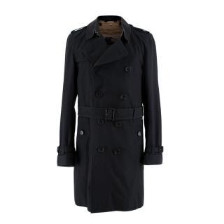 Burberry The Sandringham Navy Slim Fit Mid-Length Trench Coat