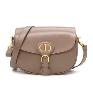 Dior Taupe Leather New Season Medium Bobby Bag