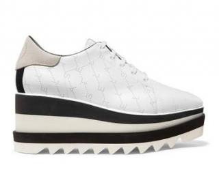 Stella McCartney Denim Elyse Logo-perforated Brogue Sneakers