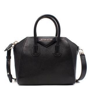 Givenchy Black Grained Leather Mini Antigona Bag