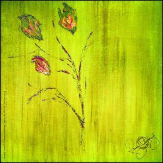 Rosemary Goodenough Springing Tulips XIX Silk Scarf