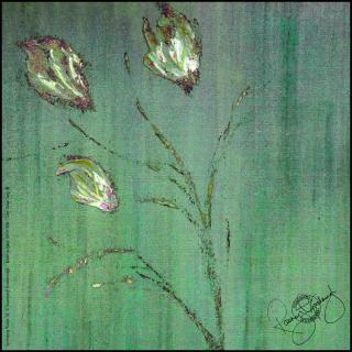 Rosemary Goodenough Springing Tulips IX Silk Scarf