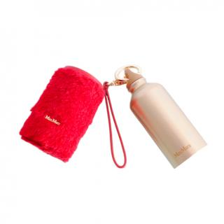 Max Mara Gold Tone Thermo Bottle with Teddy Cover