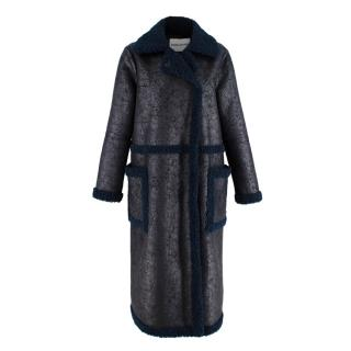 Stand Studio Adrianna Faux-suede And Shearling Coat