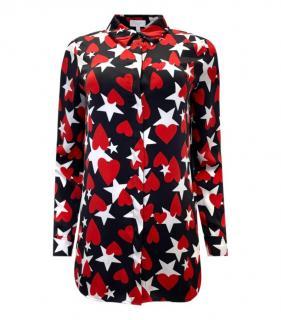 Escada Sport Star Print Silk Blouse